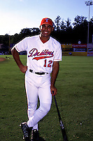 Tulsa Drillers first baseman Carlos Pena poses for a photo prior to the AA All Star Game at Prince George's Stadium in Bowie, Maryland during July of 2000.  (Ken Babbitt/Four Seam Images)