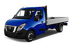 2021 Nissan NV400 Acenta 2 Door Chassis Cab Angular Front automotive stock photos of front three quarter view