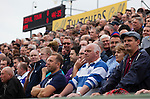 Yeovil Town 0 Queens Park Rangers 1, 21/09/2013. Huish Park, Championship. QPR fans in the terraced away end at Huish Park. Photo by Paul Thompson.