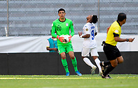 GUADALAJARA, MEXICO - MARCH 28: David Ochoa #20 of the United States saves the bal during a game between Honduras and USMNT U-23 at Estadio Jalisco on March 28, 2021 in Guadalajara, Mexico.