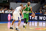 Real Madrid's player Dontaye Draper and Unics Kazan's player Keith Langford during match of Turkish Airlines Euroleague at Barclaycard Center in Madrid. November 24, Spain. 2016. (ALTERPHOTOS/BorjaB.Hojas)