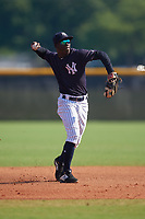 New York Yankees Sincere Smith (6) during a Minor League Spring Training game against the Philadelphia Phillies on March 23, 2019 at the New York Yankees Minor League Complex in Tampa, Florida.  (Mike Janes/Four Seam Images)