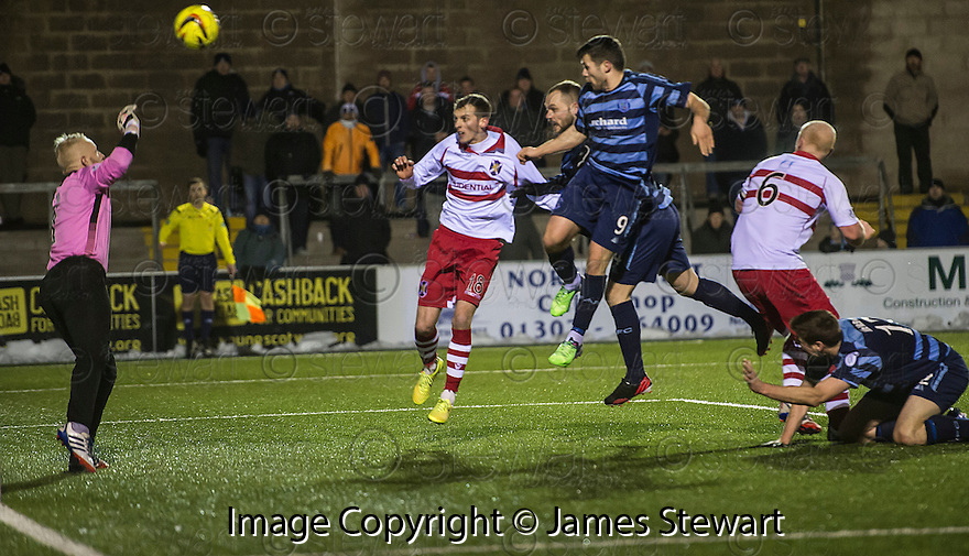Forfar's Martyn Fotheringham scores their second goal.