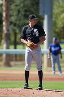 Chicago White Sox pitcher Tyler Johnson (61) prepares to deliver a pitch to the plate during an Instructional League game against the Los Angeles Dodgers on September 30, 2017 at Camelback Ranch in Glendale, Arizona. (Zachary Lucy/Four Seam Images)