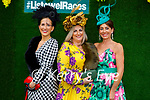 Enjoying the Ladies Day at the Listowel Races on Friday, l to r: Denise O'Connor (Brosna), Maggie Ann Fleming (Brosna) and Grace Flynn (Limerick).