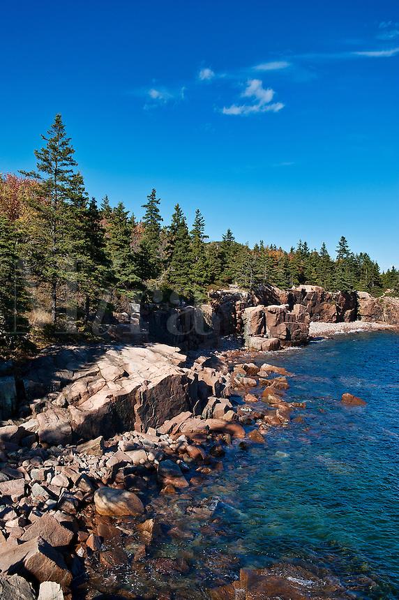 Coastal landscape, Acadia National Park, Mount Desert Island, Maine, ME, USA