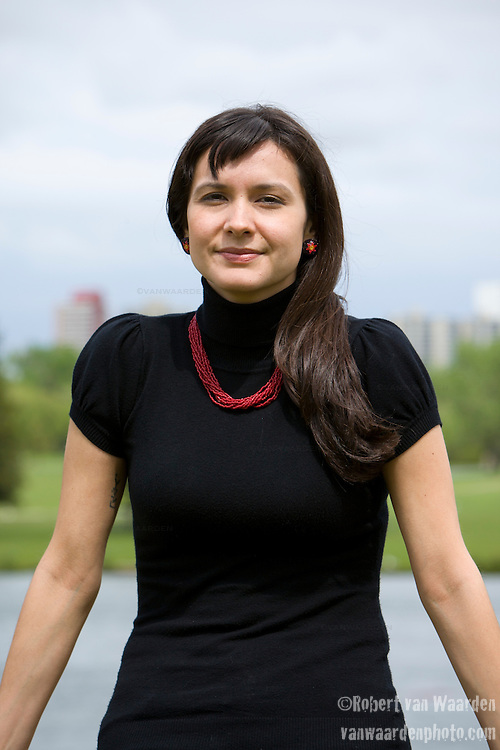 """Melina Laboucan -Massimo in Edmonton. """"I see the tars sands as a second wave of colonization, (and) resource extraction. When settlers first came to North America, a lot of it was definitely putting indigenous peoples on different reserves, allocating certain lands and treaties were signed. Now, with resource exploitation we are seeing an encroachment of people and industry on indigenous territories."""""""