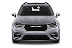 Car photography straight front view of a 2021 Chrysler Pacifica-Hybrid LIMITED 5 Door Minivan Front View