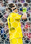 Goalkeeper Bernd Leno of Bayer 04 Leverkusen drinks water during their 2016-17 UEFA Champions League Round of 16 second leg match between Atletico de Madrid and Bayer 04 Leverkusen at the Estadio Vicente Calderon on 15 March 2017 in Madrid, Spain. Photo by Diego Gonzalez Souto / Power Sport Images