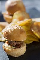 Europe/France/Rhone-Alpes/74/Haute-Savoie/Megève: Hamburger Rothschild Burger au Restaurant d'Altitude: L' Idéal au sommet du Mont d'Arbois
