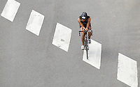 28 JUL 2013 - LONDON, GBR - Sonia Spearing makes her way around the bike course during the 2013 Virgin Active London Triathlon around Excel at Royal Victoria Dock in London, Great Britain (PHOTO COPYRIGHT © 2013 NIGEL FARROW, ALL RIGHTS RESERVED)