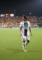FC Pachuca midfielder Andres Chitiva (10) leaves the field after a red card ejection. FC Pachuca defeated Houston Dynamo 4-3 in penalty kicks after a 2-2 tie in regulation and extra time at Robertson Stadium in Houston, TX on August 14, 2007 in the Superliga semi-finals.