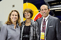 Kathy Carter, Don Garber. The men's national team of the United States (USA) was defeated by Ecuador (ECU) 1-0 during an international friendly at Red Bull Arena in Harrison, NJ, on October 11, 2011.