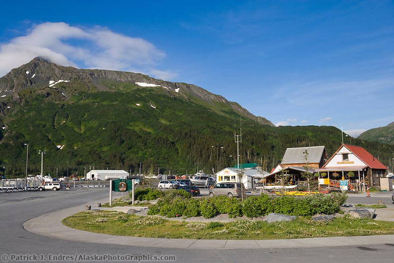 Coastal town of Whittier, southcentral, Alaska.