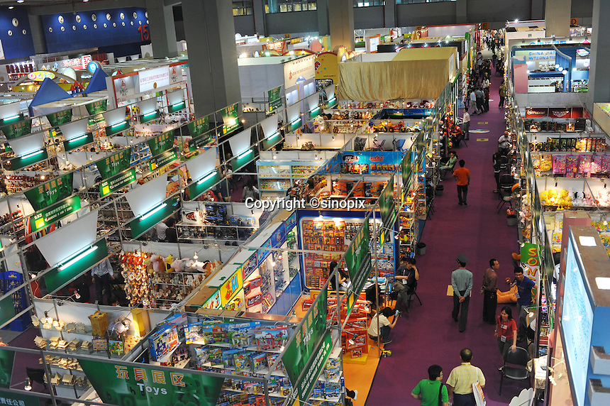 Businessmen at the world's largest trade fair, China Import and Export Fair (Canton Fair) in Guangzhou, China. The trade fair which last the month of April draws to gather manufacturers from across China and attracts businessmen from around the world..26 Apr 2009