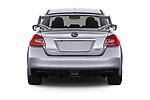 Straight rear view of 2021 Subaru WRX-STI - 4 Door Sedan Rear View  stock images