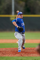 Indiana State Sycamores pitcher Geremy Guerrero (30) during the teams opening game of the season against the Pitt Panthers on February 19, 2021 at North Charlotte Regional Park in Port Charlotte, Florida.  (Mike Janes/Four Seam Images)