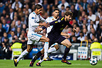 Fernando Llorente of Tottenham Hotspur FC (R) fights for the ball with Raphael Varane of Real Madrid (L) during the UEFA Champions League 2017-18 match between Real Madrid and Tottenham Hotspur FC at Estadio Santiago Bernabeu on 17 October 2017 in Madrid, Spain. Photo by Diego Gonzalez / Power Sport Images