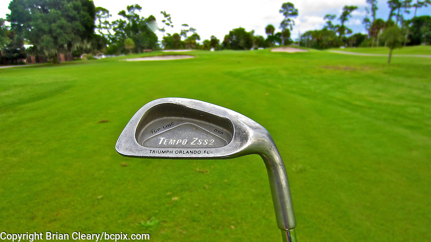 Tempo Zss2 iron, from the Triumph Orlando, FL golf company,  in action on the Daytona Beach Golf Course, Daytona Beach, Florida, July 2014.  (Photo by Brian Cleary/www.bcpix.com)