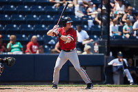 Jakson Reetz (15) of the Rochester Red Wings at bat against the Scranton/Wilkes-Barre RailRiders at PNC Field on July 25, 2021 in Moosic, Pennsylvania. (Brian Westerholt/Four Seam Images)