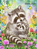 Kayomi, CUTE ANIMALS, LUSTIGE TIERE, ANIMALITOS DIVERTIDOS, paintings+++++,USKH303,#ac#, EVERYDAY ,#A#,realistic ,raccoon