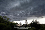 Threatening nimbostratus clouds forming prior to a thunder storm in northeastern Pennsylvania