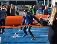 Februari 06, 2015, Apeldoorn, Omnisport, Fed Cup, Netherlands-Slovakia, Draw, Cityhall, streeftennis <br /> Photo: Tennisimages/Henk Koster