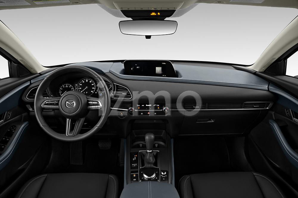 Stock photo of straight dashboard view of 2020 Mazda CX-30 Select 5 Door SUV Dashboard