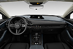 Stock photo of straight dashboard view of 2020 Mazda CX-30 Select 5 Door SUV Dashboard