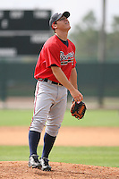 March 23rd 2008:  Benino Prundeda of the Atlanta Braves minor league system during Spring Training at Disney's Wide World of Sports in Orlando, FL.  Photo by:  Mike Janes/Four Seam Images
