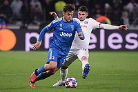 Paulo Dybala of Juventus , Houssem Aouar of Lyon <br /> Lyon 26/02/2020 OL Stadium Decines <br /> Football Champions League 2019//2020 <br /> Round of 16 1st Leg <br /> Olympique Lionnais Lyon - Juventus <br /> Photo Federico Tardito / Insidefoto