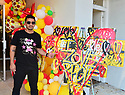 CORAL GABLES, FL - MAY 25: Artist Nino, winner of 'creative people pizza from the art' attends the P.Pole Pizza 3rd anniversary feature Singer AYASH on May 25, 2021 in Coral Gables, Florida.  ( Photo by Johnny Louis / jlnphotography.com )