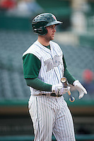 Fort Wayne TinCaps center fielder Michael Gettys (28) during the second game of a doubleheader against the Great Lakes Loons on May 11, 2016 at Parkview Field in Fort Wayne, Indiana.  Great Lakes defeated Fort Wayne 5-0.  (Mike Janes/Four Seam Images)