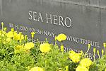 Scenes from Saratoga _ Sea Hero statue in paddock