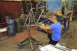Titanium frame being built De Rosa factory, Cusano Milanino, Italy. 30th September 2015.<br /> Picture: Eoin Clarke   Newsfile