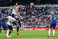 19th September 2021; Tottenham Hotspur Stadium, Tottenham, London; Thiago Silva of Chelsea scoring his headed goal during the Premier League match between Tottenham Hotspur and Chelsea at Tottenham Hotspur Stadium