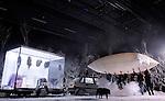 LA MELANCOLIE DES DRAGONS..Auteur : QUESNE Philippe..Mise en scene : QUESNE Philippe..Compagnie : Vivarium Studio..Decor : QUESNE Philippe..Avec :..ANGOTTI Isabelle..ATMANE Zinn..AUTE Rodolphe..HERMES..JACOBS Sebastien..TESSIER Emilien..VARLOT Tristan..VOURC H Gaetan..Lieu : Centre Georges Pompidou..Ville : Paris..Le : 14 04 2009..© Laurent PAILLIER / www.photosdedanse.com..All rights reserved