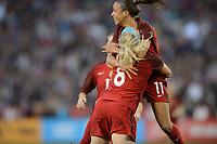 San Diego, Ca - Sunday, January 21, 2018: Julie Ertz Mallory Pugh during a USWNT 5-1 victory over Denmark at SDCCU Stadium.