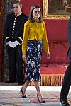 Queen Letizia of Spain receives Palestinian President Mahmoud Abbas. May 24 ,2017. (ALTERPHOTOS/Pool)