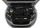 Car Stock 2019 Skoda Superb-Combi Sport-Line 5 Door Wagon Engine  high angle detail view