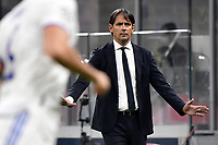 Simone Inzaghi coach of FC Internazionale reacts during the Uefa Champions League group D football match between FC Internazionale and Real Madrid at San Siro stadium in Milano (Italy), September 15th, 2021. Photo Andrea Staccioli / Insidefoto