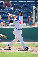 Tyler Ramirez (38) of the Stockton Ports bats against the Rancho Cucamonga Quakes at LoanMart Field on May 28, 2017 in Rancho Cucamonga, California. Stockton defeated Rancho Cucamonga, 7-4. (Larry Goren/Four Seam Images)