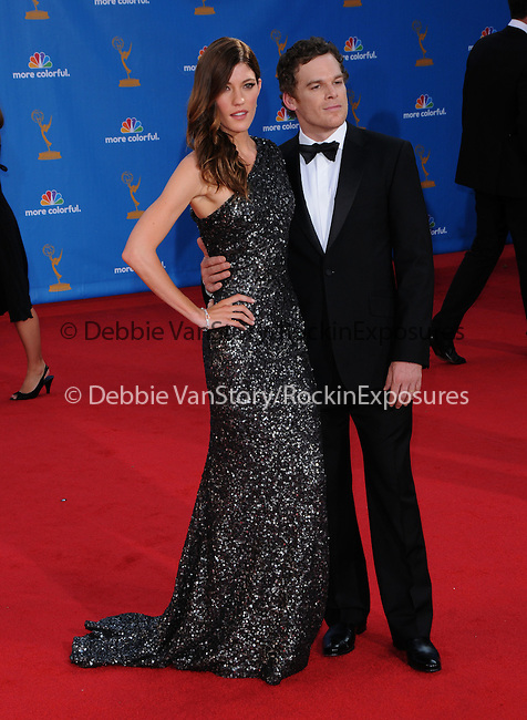 Jennifer Carpenter & Michael C. Hall..  at The 62nd Anual Primetime Emmy Awards held at Nokia Theatre L.A. Live in Los Angeles, California on August 29,2010                                                                   Copyright 2010  DVS / RockinExposures