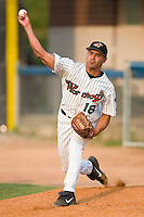 Winston-Salem starting pitcher Carlos Torres warms up in the bullpen prior to taking on the Kinston Indians at Ernie Shore Field in Winston-Salem, NC, Tuesday, July 4, 2006.  The Warthogs defeated the Indians 3-2.