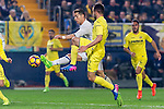 Cristiano Ronaldo (l) of Real Madrid competes for the ball with Mario Gaspar Pérez Martínez of Villarreal CF during their La Liga match between Villarreal CF and Real Madrid at the Estadio de la Cerámica on 26 February 2017 in Villarreal, Spain. Photo by Maria Jose Segovia Carmona / Power Sport Images