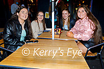 Enjoying the evening in Killarney on Saturday, l to r: Ciara Casey (Beaufort), Niamh Murphy (Beaufort), Lucinda Breen (Beaufort) and Aoife O'Connor (Glenbeigh).