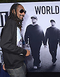 Snoop Dogg attends The Universal Pictures' STRAIGHT OUTTA COMPTON World Premiere held at The Microsoft Theatre  in Los Angeles, California on August 10,2015                                                                               © 2015 Hollywood Press Agency