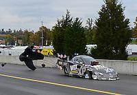 Oct. 7, 2012; Mohnton, PA, USA: NHRA funny car driver Tony Pedregon during the Auto Plus Nationals at Maple Grove Raceway. Mandatory Credit: Mark J. Rebilas-