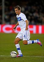 Domenico Criscito (ITA), during the friendly match Italy against USA at the Stadium Luigi Ferraris at Genova Italy on february the 29th, 2012.