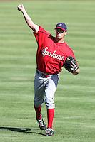 Spokane Indians pitcher Kyle Hendricks #23 before a game against the Salem-Keizer Volcanoes at Volcanoes Stadium on August 10, 2011 in Salem-Keizer,Oregon. Salem-Keizer defeated Spokane 7-6.(Larry Goren/Four Seam Images)